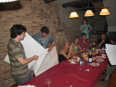 Cena de hermandad  de profesores de ADEEA y APUDEPA en el casco antiguo de Zaragoza