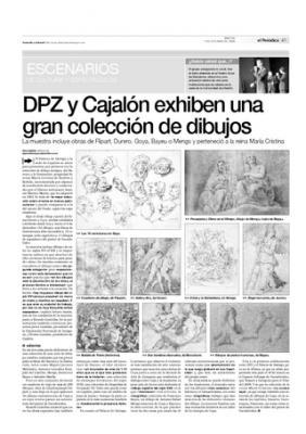 """Gran exposición """"El Dibujo español, del Renacimiento a Goya. La colección de la familia de la reina María Cristina de Borbón"""" en el Palacio de Sástago y Cajalón"""