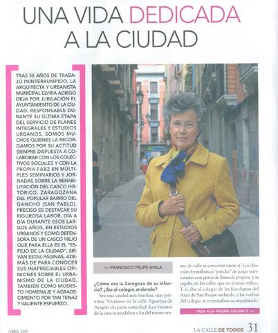 Elvira Adiego,  Una vida dedicada a la ciudad