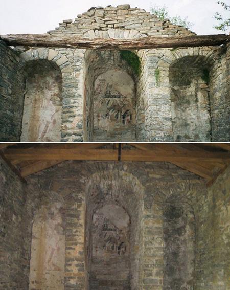 La ermita de San Bartolomé de Bergua (siglo XI, Broto, Sobrarbe), restaurada tras las gestiones de APUDEPA