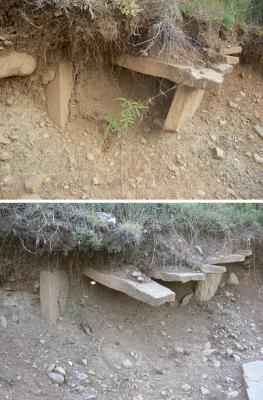 APUDEPA denuncia nuevos y graves daños en la necrópolis medieval de San Grimién, en Hecho