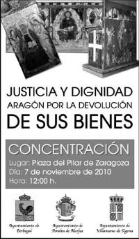 APUDEPA participará en la manifestación de mañana  para exigir el retorno del arte aragonés