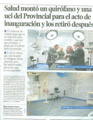 La  rehabilitación y la uci del hospital Provincial : los ciudadanos cornudos y apaleados.