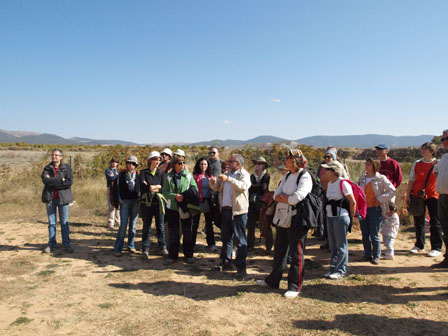 Francisco Burillo y su equipo en Segeda (Mara, Calatayud) en la XI Jornadas Europeas de Patrimonio