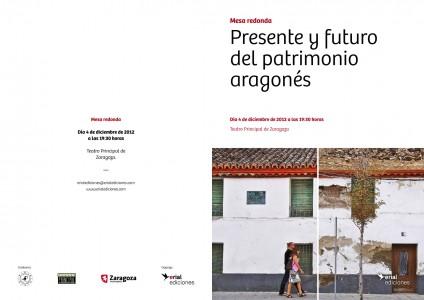 Mesa redonda en el Teatro Principal de Zaragoza, día 4 de diciembre. Organiza Erial Ediciones y colabora Apudepa