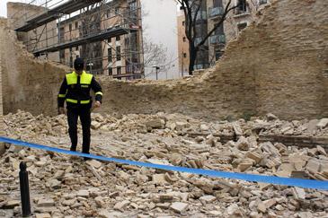 Apudepa, consternada por el derrumbe de la muralla de Zaragoza, pide explicaciones