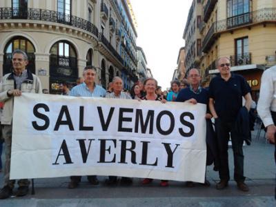 Ayer, 15 M. en Zaragoza: Salvemos Averly