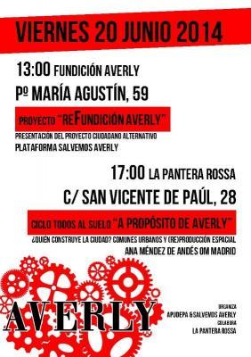 La Plataforma Salvemos Averly anuncia movilizaciones que culminarán el 26 de junio con una manifestación en Zaragoza