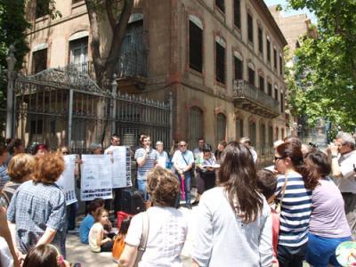 Día 20 de junio. Rueda de prensa y encuentro con los colectivos y vecinos: Proyecto de Reconversión de la histórica fundición zaragozana. Seguimos fundiendo